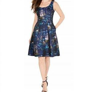 Donna Ricco 10 Blue Halter Dress 8BF79